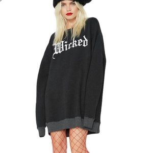 WILDFOX Wicked Relaxed Graphic Pullover Sweatshirt